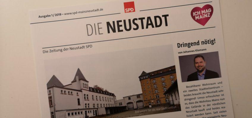 Die Neustadt - Die Zeitung der Neustadt-SPD - Titelbild der Ausgabe 1/2019